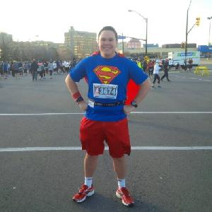 Super-Paul fundraising for the Hospital!